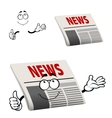 Newspaper character with news headline vector image