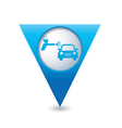 painting of cars BLUE triangular map pointer vector image