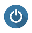 Power Sign Icon Flat Design vector image