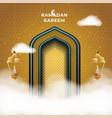 ramadan kareem greeting card background vector image vector image