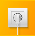 realistic detailed 3d plug inserted in electrical vector image vector image