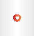 red heart gradient logo symbol sign vector image