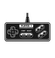 retro gamepad black object isolated vector image vector image
