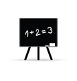 school board with numbers vector image vector image