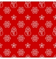 Seamless christmas pattern with snowman and vector image vector image