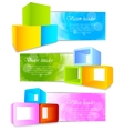 set banners with 3d element vector image vector image