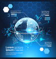 set of computer futuristic infographic elements vector image