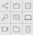 Set of Modern Thin Line Icons Share Computer vector image