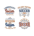 Soccer Badges Collection vector image vector image