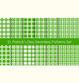 st patricks day holiday seamless pattern set vector image vector image