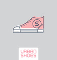 Stylized sneakers Outline urban shoes Sport icon vector image vector image