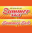 Summer sale template banners with sun rays