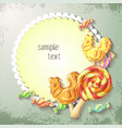 sweets lollipop and caramel banner vector image