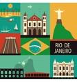 Symbols of Rio de Janeiro vector image vector image