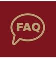 The faq speech bubble icon Help symbol Flat vector image vector image