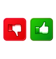 Thumb up and thumb down button vector image vector image