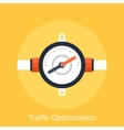 Traffic Optimization vector image vector image