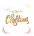 white christmas background with colored circles vector image vector image