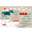 Winter Mountain Concept vector image vector image