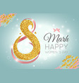 womens day celebration greeting card vector image vector image