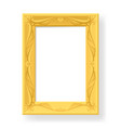 wooden frame for photos on white background for vector image vector image