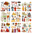 world history and countries culture traveling and vector image vector image