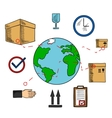 Worldwide shipping and logistics service vector image vector image