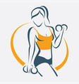 active woman doing fitness symbol sport concept vector image