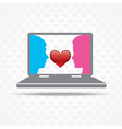 Love by technology concept vector image
