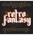 3d Fantasy Gothic Font vector image