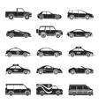 Car icons set vector image