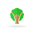 Woman silhouette tree logo vector image