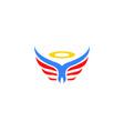 angel logo design vector image vector image