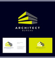 architect bureau logo brick modules vector image