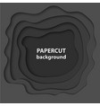 background with black color paper cut shapes 3d vector image vector image