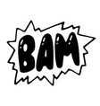 bam comic book explosion icon pop art retro vector image
