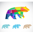 Bear abstract vector image