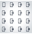 black mobile icon set vector image vector image