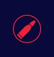 bullet icon ammo symbol vector image vector image