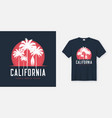california santa monica beach t-shirt and apparel vector image vector image