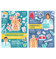 cardiology and endocrinology clinic doctors pills vector image vector image