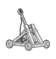 catapult ballistic device sketch vector image vector image