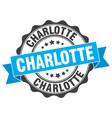 charlotte round ribbon seal vector image vector image