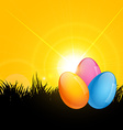 colorful easter design vector image vector image