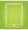 Computer tablet line icon vector image vector image