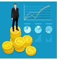 Concept of wealth vector image vector image