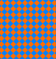 diagonal cloth seamless pattern orange and blue vector image vector image