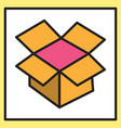 dropbox color icon realistic icon or logo vector image vector image