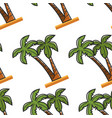 egyptian beach plant palm tree seamless pattern vector image