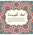 Elegant card with lace ornament and place for text vector image vector image